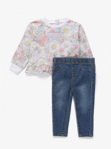 סט חולצה ומכנסי ג'ינס / 1Y-2Y של LEVIS