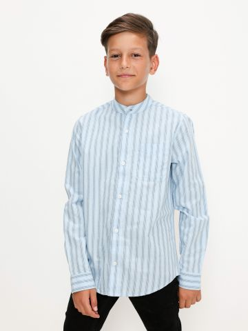 חולצה מכופתרת בהדפס פסים של THE CHILDREN'S PLACE