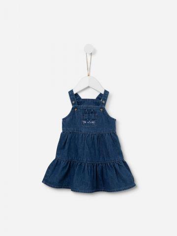 שמלת ג'ינס בסגנון אוברול / 0-3Y של SHILAV