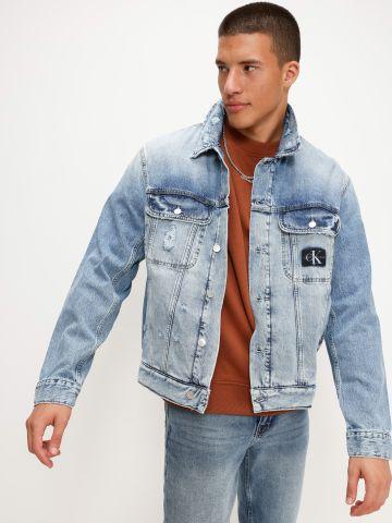 ג'קט ג'ינס עם רקמת לוגו של CALVIN KLEIN
