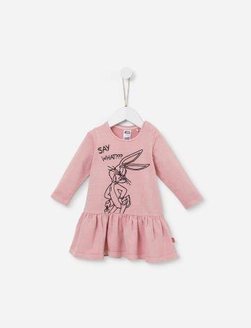 שמלת פפלום עם הדפס באגס באני / 12M-5Y של SHILAV