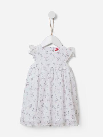 שמלה בהדפס פרחים עם מלמלה / 3M-5Y של SHILAV