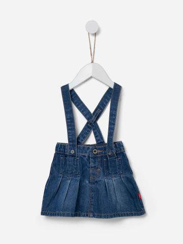 חצאית ג'ינס בשילוב שלייקס / 0-5Y של SHILAV