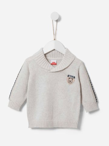 סוודר עם רקמת דובי / 0-3Y של SHILAV