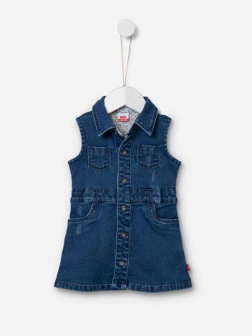 שמלת ג'ינס מכופתרת / 6M-5Y של SHILAV