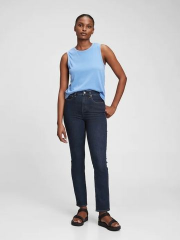 ג'ינס ישר בגזרה גבוהה של GAP