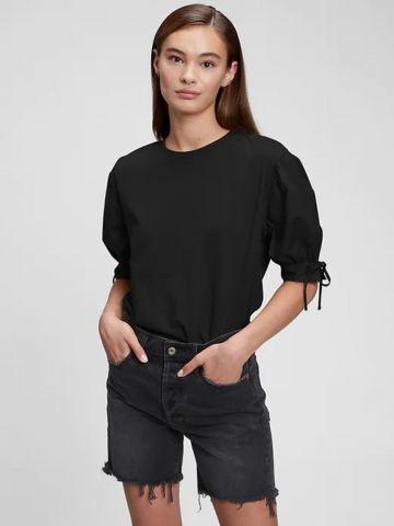 חולצה עם שרוולי קשירה של GAP