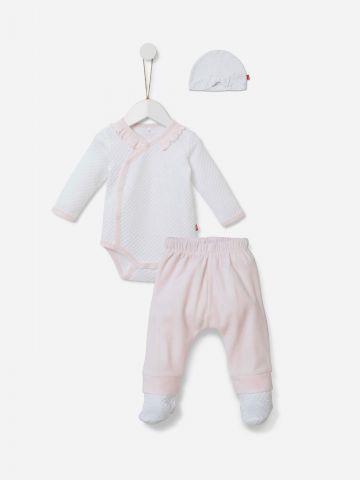 סט חליפה מכנסיים וכובע / 0-6M של SHILAV
