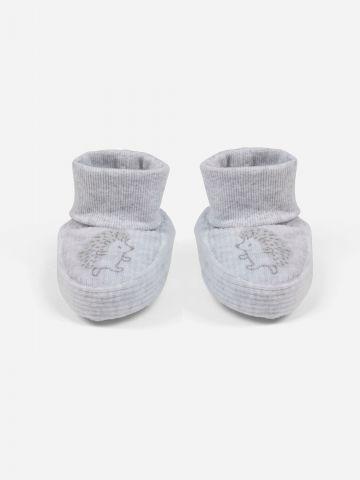נעליים רכות עם הדפס קיפוד / 0-24M של SHILAV