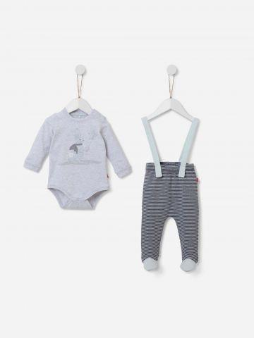 סט בגד גוף ומכנסיים ארוכים / 0-12M של SHILAV