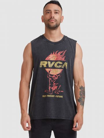 גופייה עם הדפס לוגו של RVCA