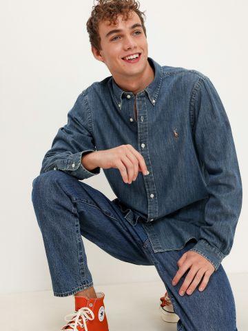 חולצת ג'ינס מכופתרת של RALPH LAUREN