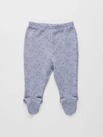 מכנסיים בהדפס עם רגליות / 0-9M של THE CHILDREN'S PLACE