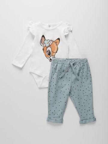 סט מכנסיים ובגד גוף עם הדפס במבי / 0-9M של THE CHILDREN'S PLACE