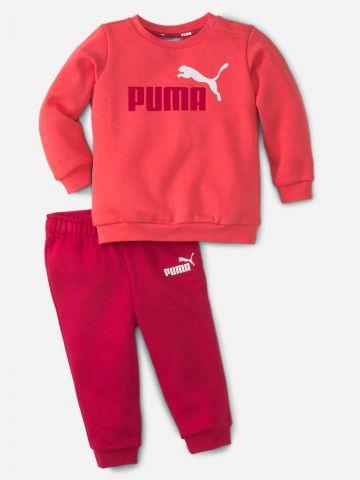 סט סווטשירט ומכנסי טרנינג עם הדפס לוגו / 2M-4Y של PUMA