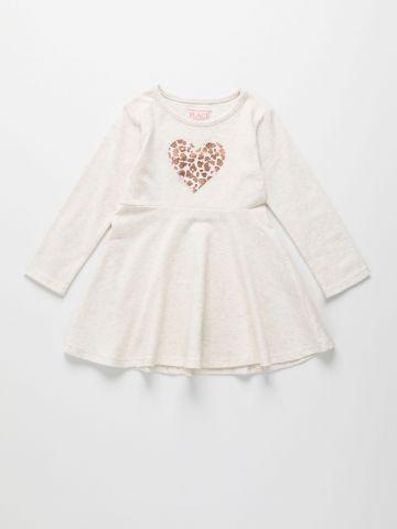 שמלה עם הדפס לב / 6M-5Y של THE CHILDREN'S PLACE