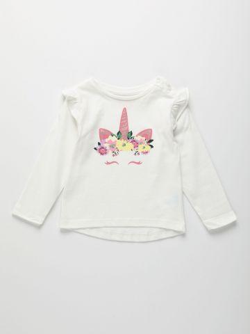חולצה עם הדפס חד קרן / 6M-5Y של THE CHILDREN'S PLACE