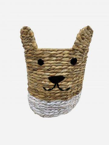 סלסלת קש בדוגמת חתול של FLORALIS