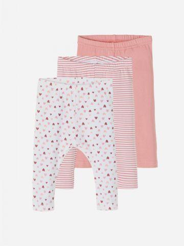 מארז 3 מכנסיים בהדפסים שונים / 0-3Y של NAME IT