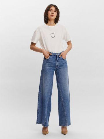 ג'ינס בגזרה רחבה של VERO MODA