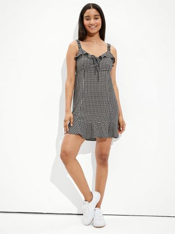 שמלת מיני בהדפס משבצות של AMERICAN EAGLE