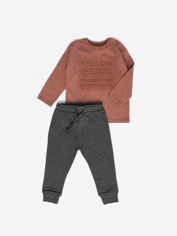 סט טי שירט ומכנסיים ארוכים / 6M-2Y של MINENE