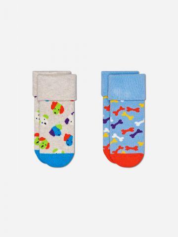 מארז 2 גרביים בדוגמאות שונות / בייבי בנים של HAPPY SOCKS