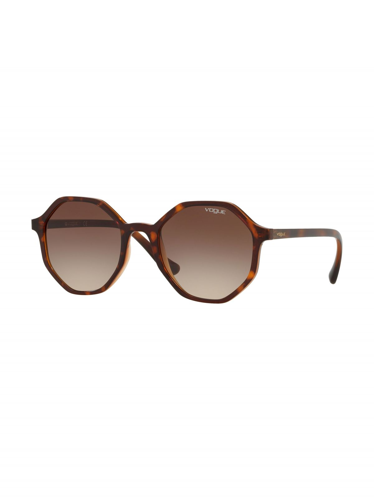 משקפי שמש מתומנים עם מסגרת פלסטיקמשקפי שמש מתומנים עם מסגרת פלסטיק של vogue eyewear