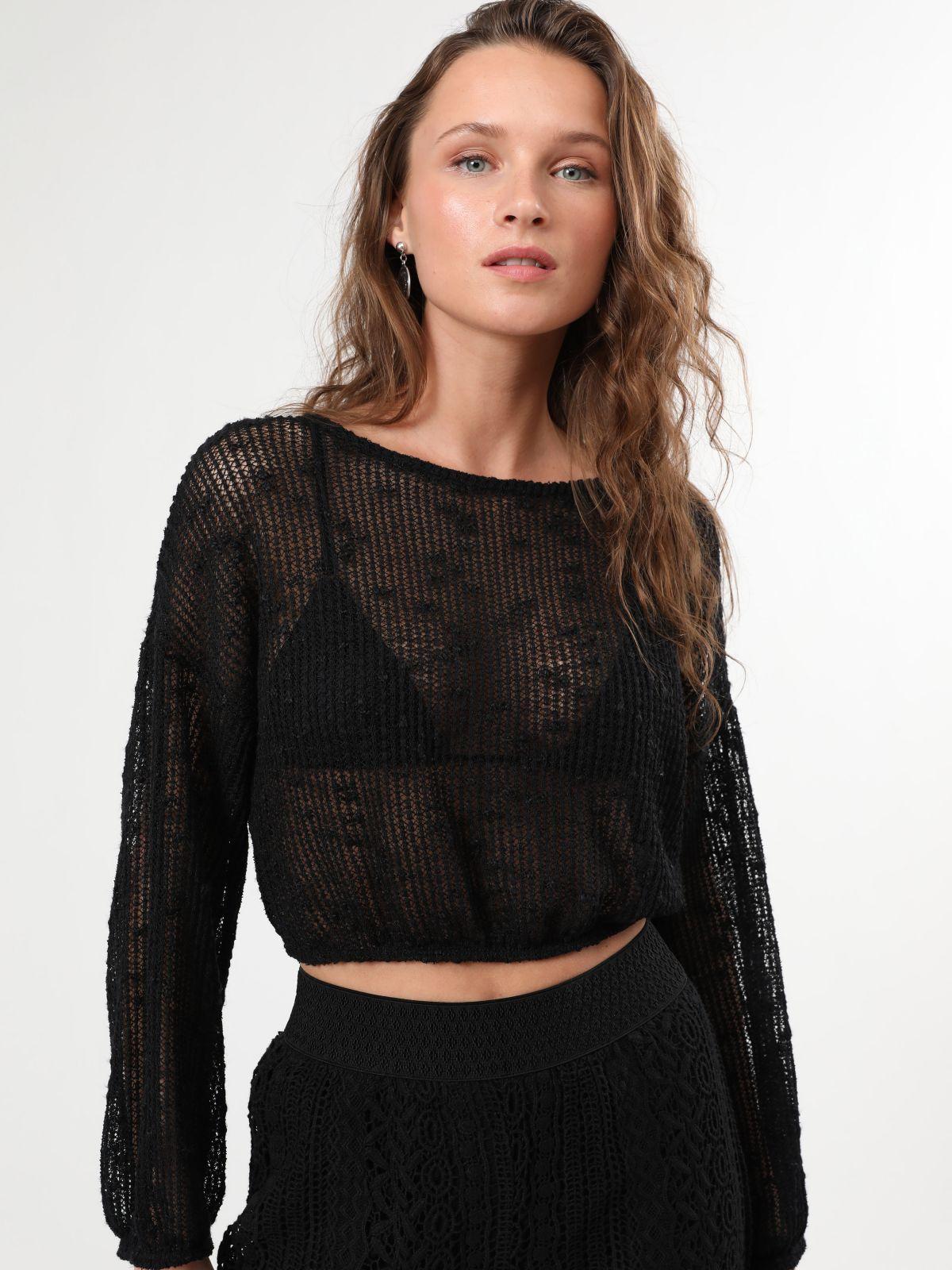 חולצת רשת קרופחולצת רשת קרופ של TERMINAL X