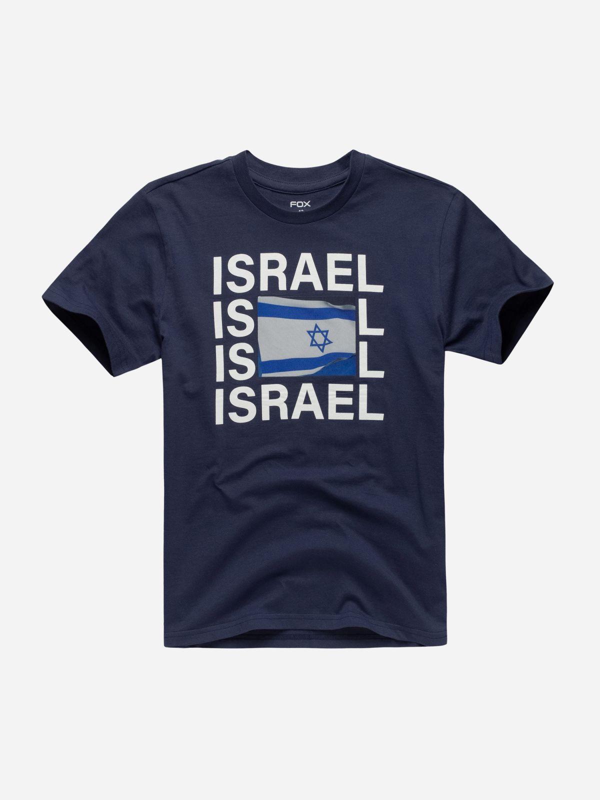 טי שירט עם הדפס Israel / בניםטי שירט עם הדפס Israel / בנים של FOX