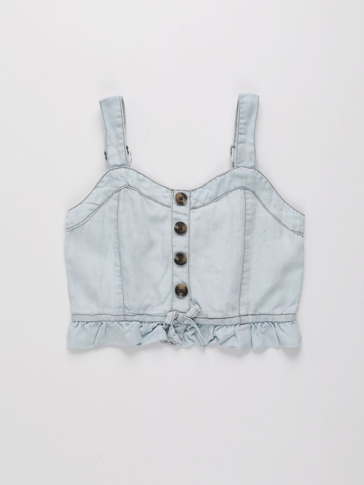 גופייה בסגנון ג'ינס עם כפתורים / בנותגופייה בסגנון ג'ינס עם כפתורים / בנות של AMERICAN EAGLE