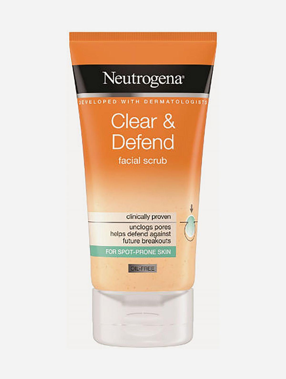 תרחיץ גרגירים Clear Defend Scrubתרחיץ גרגירים Clear Defend Scrub של NEUTROGENA