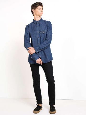 מכנסי ג'ינס סקיני Malone Black Rinse