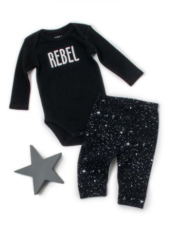 סט בגד גוף ומכנסיים Rebel / בייבי