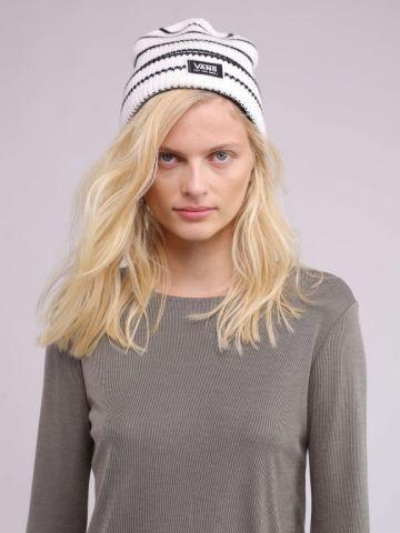 כובע גרב סרוג פסים