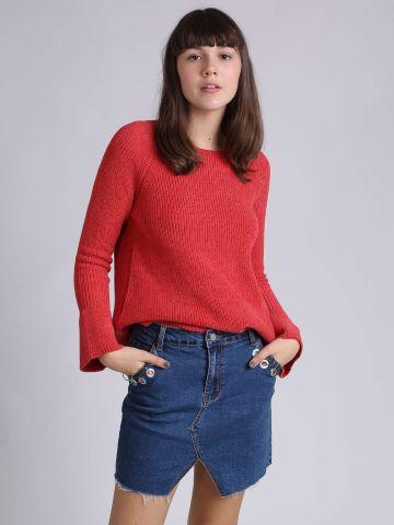 חצאית ג'ינס עם חישוקי מתכת