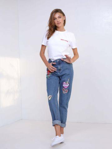 ג'ינס עם פאצ'ים