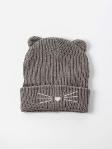 כובע גרב עם אוזני חתול / בנות