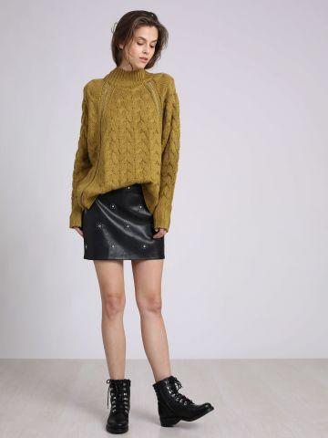 חצאית דמוי עור