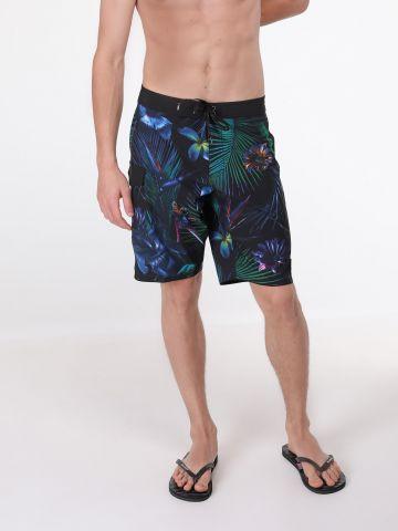 מכנסי בגד ים בהדפס טרופי