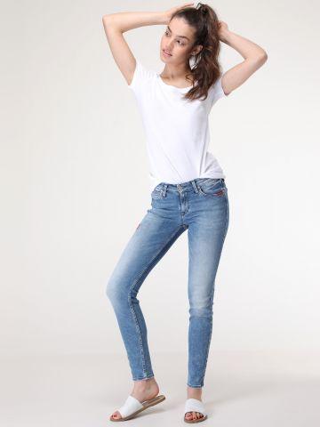 ג'ינס סקיני SCARLETT בעיטור רקמות פרחים