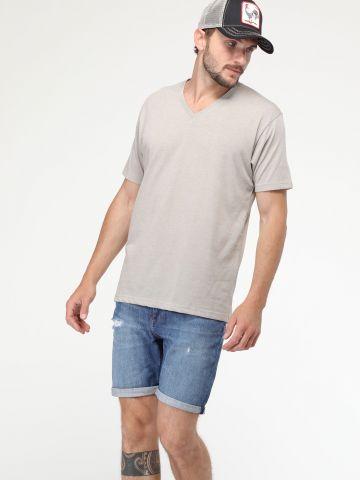 ג'ינס קצר עם סיומת קיפולים RIDER SHORT CURT
