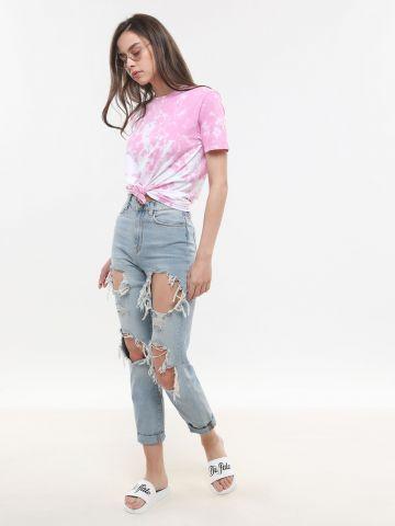 ג'ינס Mom עם קרעים BDG