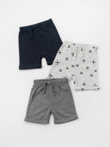 מארז 3 מכנסי טרנינג קצרים / בייבי בנים