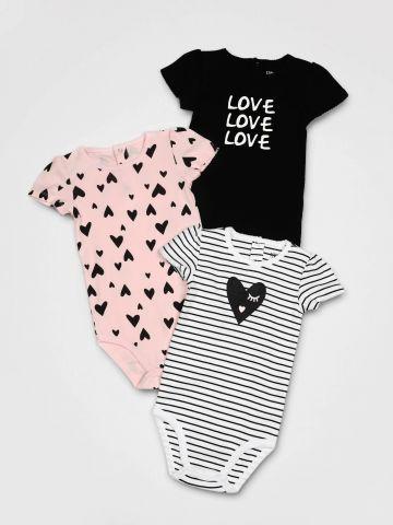 מארז 3 בגדי גוף Love