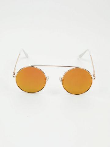 משקפי שמש עגולים עם גשר