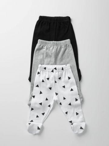 מארז 3 מכנסיים עם רגליות / בייבי