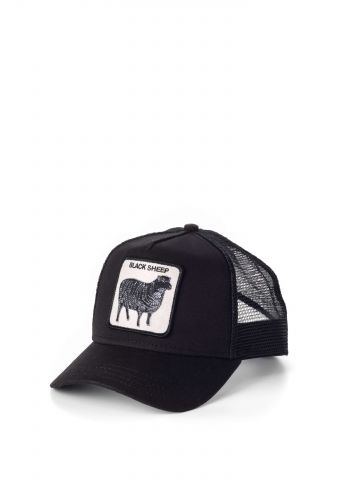 כובע מצחיה עם פאץ' כבשה שחורה