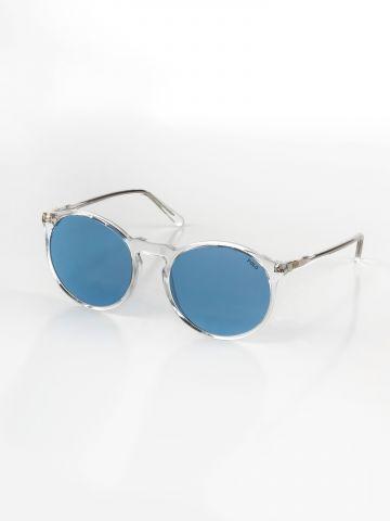 משקפי שמש עגולים עם מסגרת פלסטיק