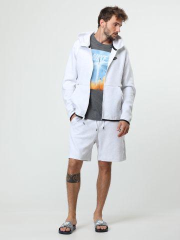 מכנסי טרנינג קצרים לוגו Tech Fleece